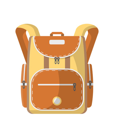 Sport haversack icon. Camping and travel backpack vector illustration isolated on white background in flat design. Illustration