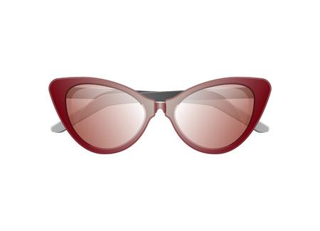 Female summer sunglasses icon. Elegant eyeglasses, trendy fashion accessory on white background. Illustration