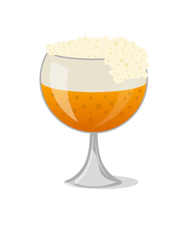 Glass of beer isolated icon in cartoon style vector illustration