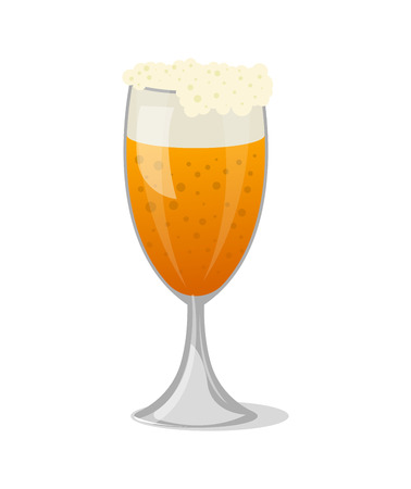 Beer mug with foam isolated icon in cartoon style vector illustration