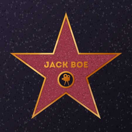 Star with name for honoring actor