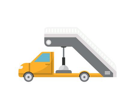 Passenger ladder truck for plane boarding icon Stock Photo