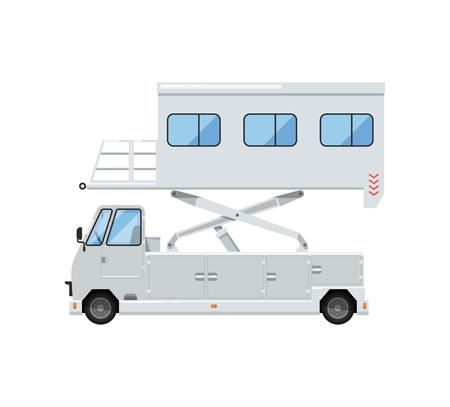 Passenger lift truck for plane boarding icon Stock Photo