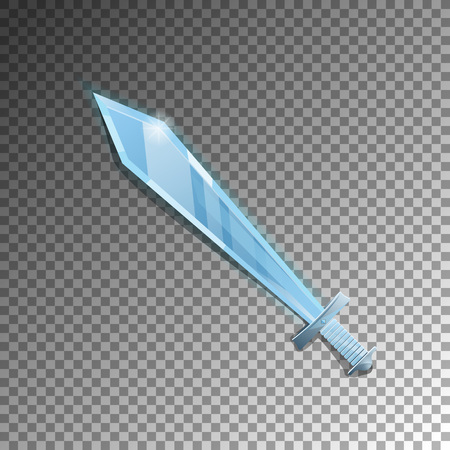 Medieval sword isolated game element Foto de archivo