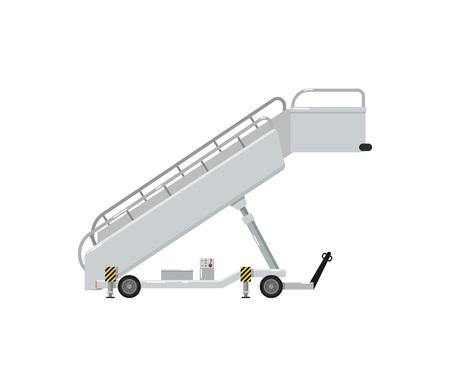Passenger ladder for plane boarding icon Stock Photo