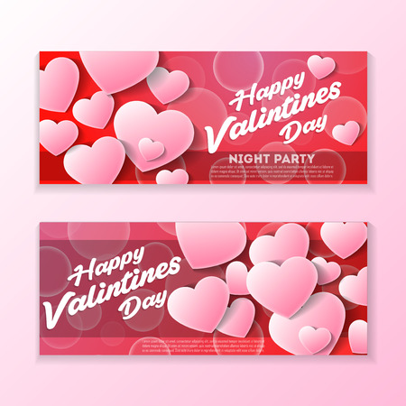 Happy valentines day greeting card template
