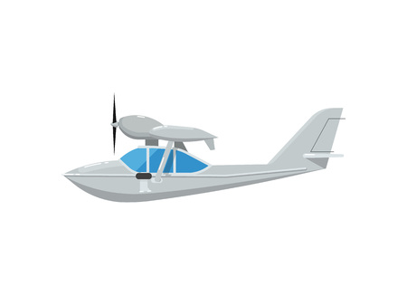 Propeller flying boat isolated icon