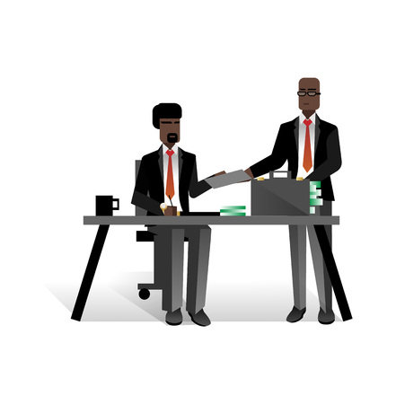 African businessmen conclude a contract