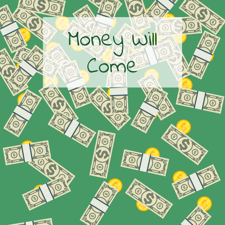 Money will come positive poster Stock fotó