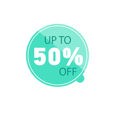 Up to 50% off sale promo isolated sticker Stock Photo