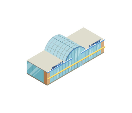 Airport building with glasses illustration