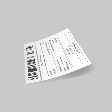 Cash receipt with card transaction