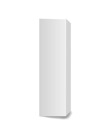 Tall cardboard box illustration