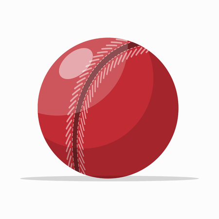Colorful red ball illustration