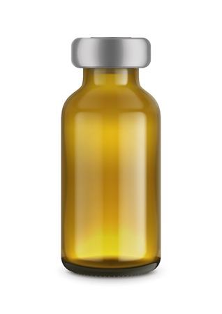 Medical bottles  isolated on white Stock Photo