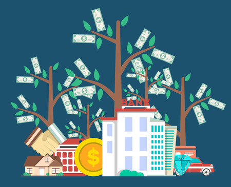 Investing in future concept with money tree
