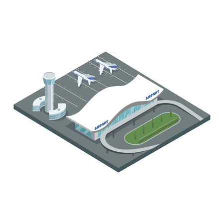 Design of airport ground in isometry