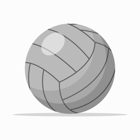 Gray colored ball for volleyball playing isolated on white. Vectores