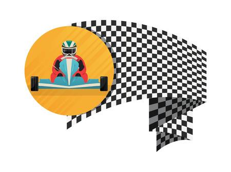 Kart championship symbol icon