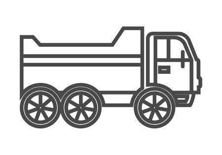 Tipper truck linear icon