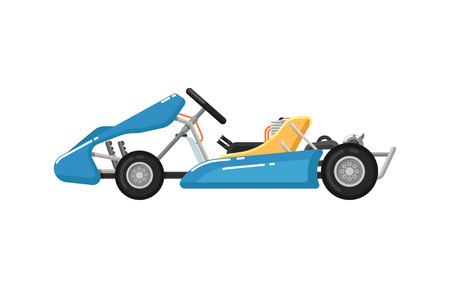 Go kart isolated icon in flat design Stock Photo