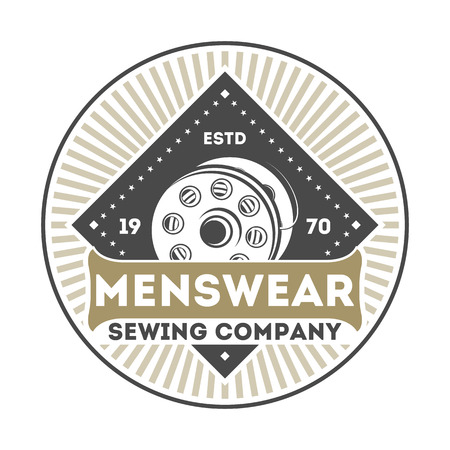 Menswear company vintage isolated label
