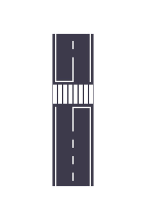 City road with zebra crossing map segment.