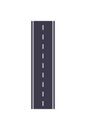 City road isolated vector illustration