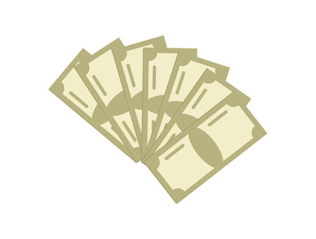Paper money isolated icon Stock Photo