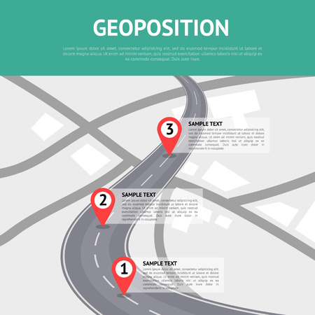 Geoposition concept with pin pointers