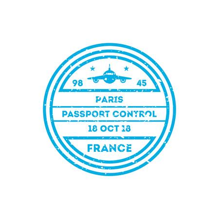 France country visa stamp on passport.
