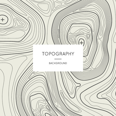 Line topography map contour background with space for text. Abstract lines showing elevation on ground, geography science vector illustration. Cartography concept with schematic nature relief. Illustration