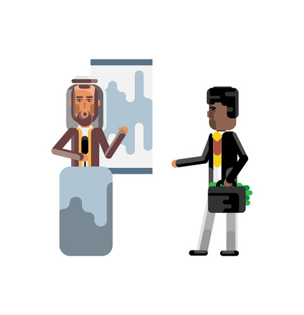Arabic speaker doing business presentation Illustration