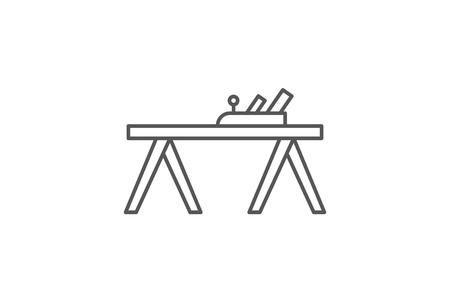 Carpenters plane icon in linear style Zdjęcie Seryjne