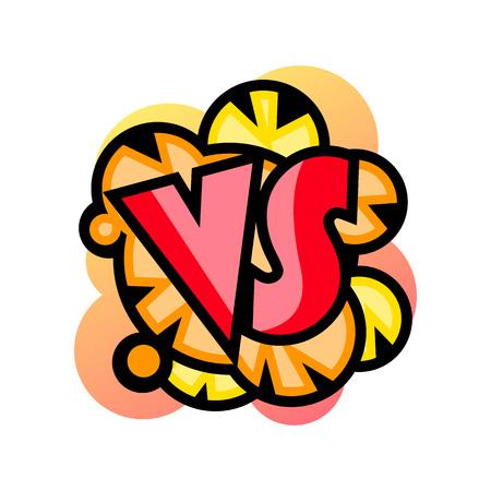 Comic versus template in classic pop art style