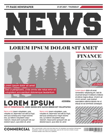 Daily news tabloid template