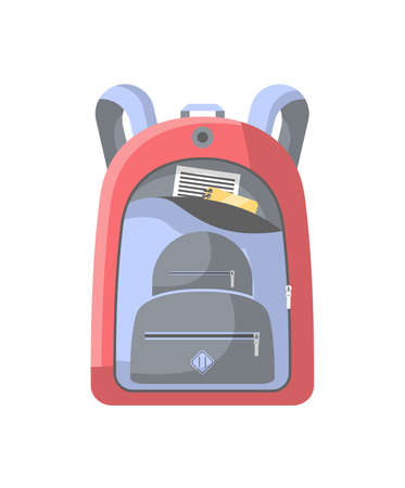 School backpack isolated icon Stock Photo