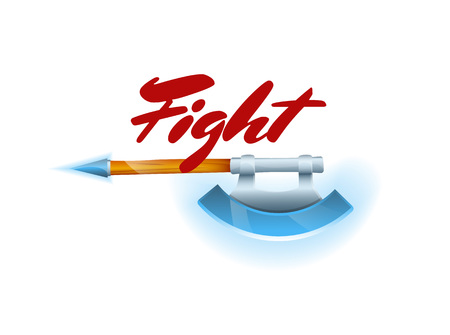 Fight game element with hatchet