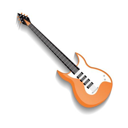 Orange bass guitar isolated icon Reklamní fotografie