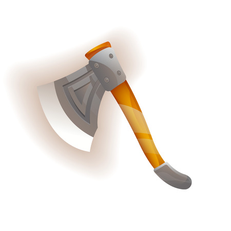Medieval knight ax icon Stock Photo