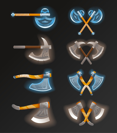 Game element set with crossed axes