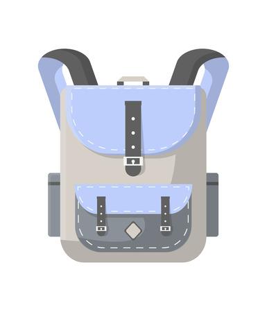Travel rucksack isolated icon
