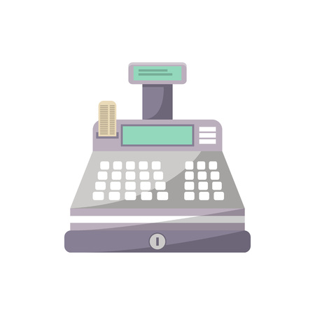 Cash machine icon in flat style