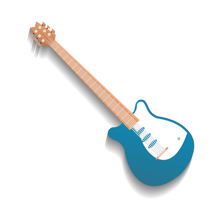 Acoustic guitar isolated icon Stock Photo