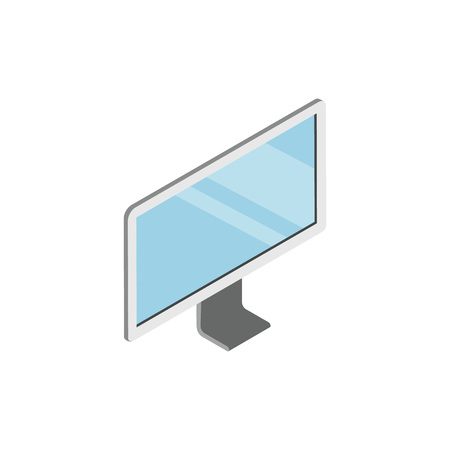 LED TV device with blank screen isometric 3D icon