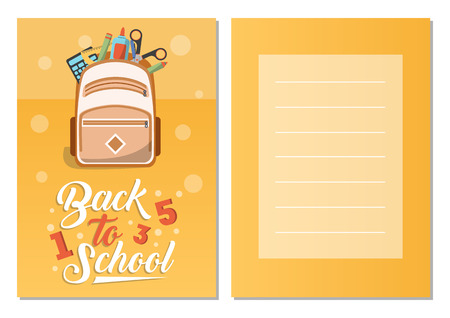 Back to school greeting card set 版權商用圖片