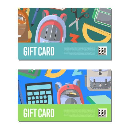 Gift certificates for school supplies