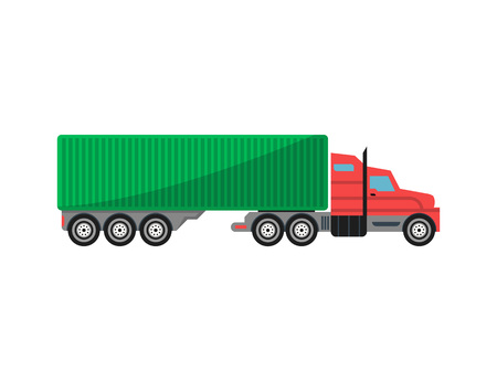Commercial freight truck isolated icon 版權商用圖片