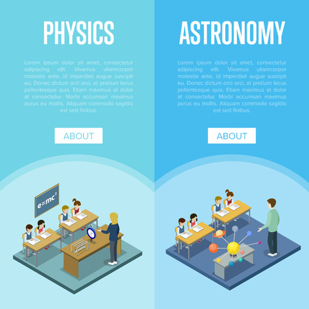 Physics and astronomy lessons at school