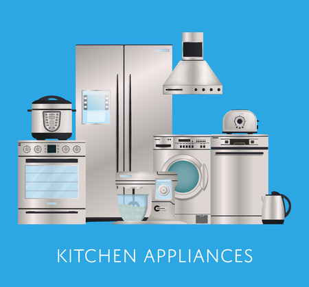 Kitchen electronic appliances retail poster 版權商用圖片